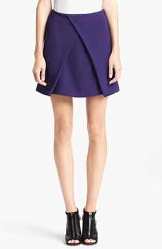 KENZO Satin Back Crepe Skirt available at #Nordstrom