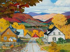 Solve Autumn Fire by Denise Bedard jigsaw puzzle online with 140 pieces Jig Saw, Canadian Painters, Canadian Art, Autumn Painting, Autumn Art, Art Gallery, Scenery Paintings, House Landscape, Landscaping Software