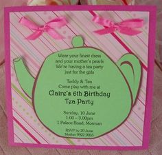 girls tea party ideas   Tea Party Invitations For Little Girls   Happy Party Idea