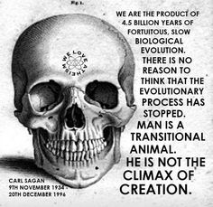 Carl Sagan. I think the atheism mark on the skull is a little much. Religion and science don't have to be mutually exclusive.