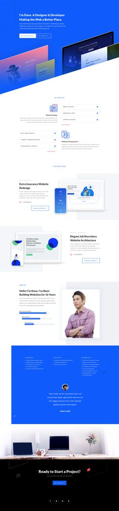 Get a FREE Web Freelancer Layout Pack for Divi - Wordpress Themes and Plugins Landing Page Inspiration, Web Design Inspiration, Design Ideas, Web Developer Portfolio Website, Ui Web, Responsive Web, Ux Design, Design Layouts, Best Wordpress Themes