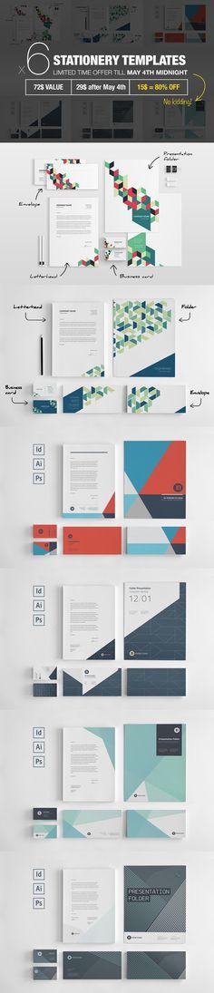 Bundle: 6 Stationery Corp Identity