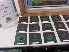Ladybirds on Leaves with plasticine