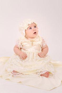 Baby girl baptism dress. Christening dress. Baptism outfit. Handmade baby dress.  Baptism set consists of baptism dress, baptism blanket, cap and