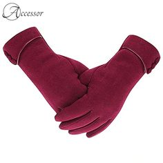 Yingkis Womens Touch Screen Fleece Gloves Windproof Winter Warm Mittens Red *** Check out the image by visiting the link. Fleece Gloves, Knitted Gloves, Women's Gloves, Ladies Gloves, Fashion Models, Mens Fashion, Fashion Pattern, Button Decorations, Warmest Winter Gloves