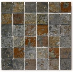 Brazilian Multicolor (San Rio Rustic ) Slate Mosaic 2
