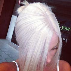 White hair. I'm doing it.