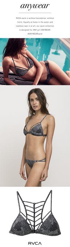72dae567dd0 ANYWEAR | RVCA SWIM | Martian Ditsy Printed Swim Bikini Top Us Swimming,  Summer Heat