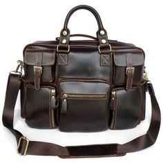 88e1180ea4 Image of Large Handmade Genuine Cow Leather Tote Business Traveling Bag    Messenger Bag   Duffle
