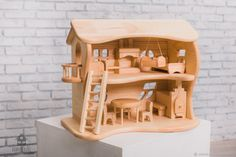 Кукольный домик двухэтажный - купить или заказать в интернет-магазине на Ярмарке Мастеров - 67NN5RU. Казань | Кукольный домик двухэтажный    Один… Wooden Gifts, Wooden Toys, Deco, Kids, Art, Baby Dolls, Wooden Dollhouse, Houses, Toys