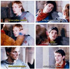 Merlin - Well don't fall asleep then! Lol his attitude 👌 Merlin Memes, Merlin Funny, Merlin Quotes, Sherlock Quotes, Merlin Serie, Merlin Cast, Merlin Fandom, Merlin Colin Morgan, Merlin And Arthur