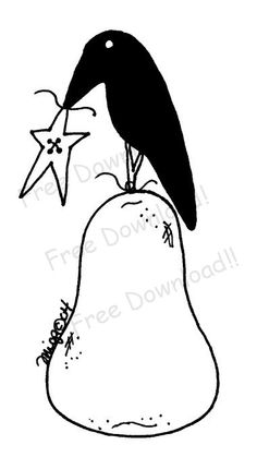 Free Primitive Crow Pattern   Free Goods - Free Patterns - Sheeps, Crows and Critters - Free Crow on ...