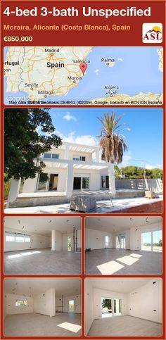 4-bed 3-bath Unspecified in Moraira, Alicante (Costa Blanca), Spain ►€850,000 #PropertyForSaleInSpain