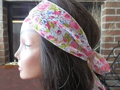 Bohemian Pink Floral headband by myfashioncreations, $11.99