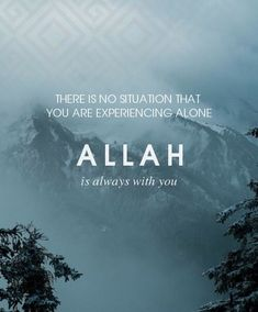 Allah is always with you Allah Quotes, Muslim Quotes, Quran Quotes, Faith Quotes, Life Quotes, Quran Sayings, Qoutes, Islamic Inspirational Quotes, Islamic Quotes