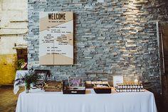 wedding tables - photos by Shannon Roddy and Elena Mudd for Amber Gress Photography http://ruffledblog.com/stylish-greenpoint-loft-wedding