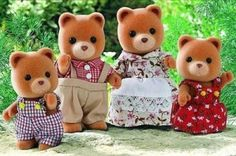 Apparantly these have made a comeback as Calico Critters.  I used to play with these in my dollhouse when I was a kid.  I had a Bear family, Beaver family, and 1 single baby fox that was adopted.