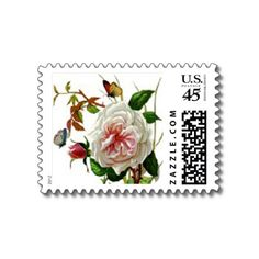 vintage rose postage - so pretty