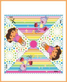 Free printable pinwheels and lots of other Dora printables