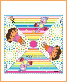 Free printable pinwheels and lots of other Dora printables