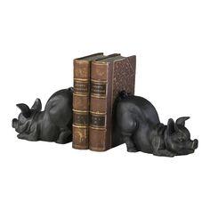 Piggy Bookends - Set of 2