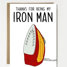 Excited to share this item from my shop: Funny Iron Man Inspired Father's Day Card Funny Parody for Dad, Greeting Card, Card for Mothers Father Birthday Cards, Bday Cards, Funny Birthday Cards, Handmade Birthday Cards, Graduation Cards, Happy Birthday Dad Funny, Cards For Men Handmade, Birthday Humorous, Birthday Sayings