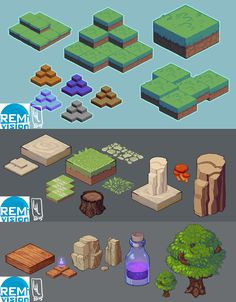 Isometric Map Attempts by LiLaiRa.deviantart.com on @DeviantArt