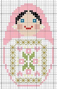 Matryoshka perler bead pattern