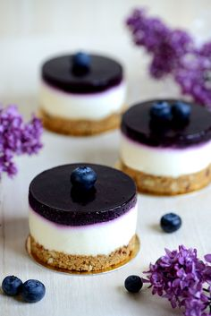 Never has a Blueberry Cheesecake tasted as good as this one.- Noch nie hat ein Blueberry Cheesecake so gut geschmeckt, wie dieser hier.… Never has a Blueberry Cheesecake tasted so good … - Cheesecake Tarts, Blueberry Cheesecake, Cheesecake Recipes, Dessert Recipes, Vegan Cheesecake, Caramel Cheesecake, Blueberry Desserts, Cheesecake Cupcakes, Blueberry Cake