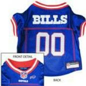 Buffalo Bills Officially Licensed Dog Jersey - Red and White Trim PRS#10295 Phancipawsonlinepetstore.com