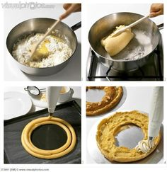 Making a Paris Brest (filled choux pastry ring)