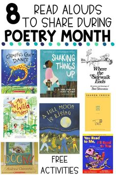 Use this great list of poetry read aloud books for your upper elementary classroom during National Poetry month or anytime! Books For 1st Graders, 4th Grade Books, 5th Grade Reading, 5th Grade Poetry, Fourth Grade, Poetry Activities, Poetry For Kids, Poetry Lessons, Poetry Unit