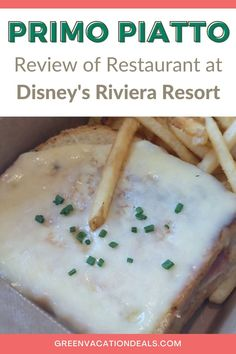 Have you eaten at Disney's Riviera Resort's quick-service restaurant, Primo Piatto? It's a great place to have a meal, especially a lunch during a day at the parks. You don't even need to be staying at the Riviera Resort to enjoy it. Find out what we loved on the menu, how to get there, tips for fitting it into your day at Walt Disney World & more. And if you do want to stay at the hotel as well as eat at Primo Piatto, learn how to stay at a discounted rate. Disney World travel planning advice. Walt Disney World Vacations, Disney Resorts, Disney World With Toddlers, Disney World Planning, Disney World Tips And Tricks, At The Hotel, Italian Recipes, Parks, Advice