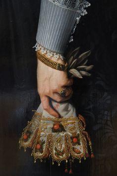 """Right Hand of Artemisia Gentileschi Holding a Brush."" ( Detail ) ~ Nicolaes Eliaszoon Pickenoy"