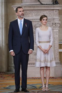 King Felipe VI and Queen Letizia of Spain attend the Order of the Civil Merit ceremony in Madrid.   - TownandCountryMag.com