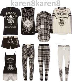 Harry Potter Items, Harry Potter Merchandise, Harry Potter Style, Harry Potter Room, Harry Potter Outfits, Harry Potter Pyjamas Primark, Nerd Outfits, Cool Outfits, Pajamas Women