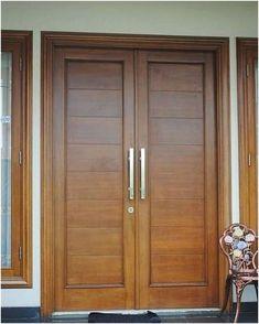 27 Ideas Double Door Design Entrance Woods For 2020 Wooden Double Doors, Wooden Front Door Design, Main Entrance Door Design, Modern Wooden Doors, Double Door Design, Double Front Entry Doors, Modern Front Door, Wood Front Doors, Entrance Doors