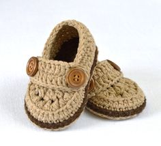 CROCHET Baby Booties PATTERN Little Loafers Easy por matildasmeadow