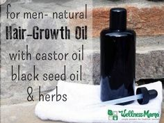 Forget the Rogaine, this natural hair growth oil for men uses natural oils to promote hair growth, even when it's been absent for a while ...