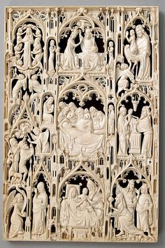 Leaf from an Ivory Diptych from 15th Century England or France.