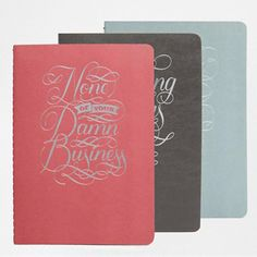 ASOS None of Your Damn Business Notebook Collection