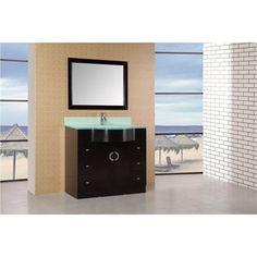 "Design Element Aria 40"" Modern Bathroom Vanity - Espresso"