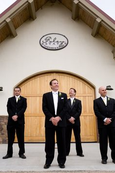 A little gentlemen's time pre-ceremony at Foley Winery