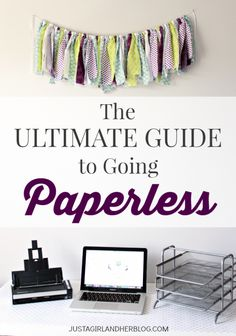 Ultimate Guide to Going Paperless This is organizational genius. No more filing cabinets-- everything is totally paperless! (And they tell you exactly how to do it! Organizing Paperwork, Home Office Organization, Paper Organization, Organizing Your Home, Organising, Organizing Tips, Evernote, Planners, Paper Clutter