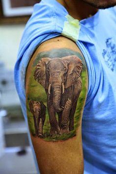 Elefantes, simbolismo y los 70 mejores tatuajes