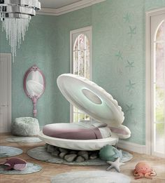 Get Into The Disney Vibe With The Little Mermaid Bed