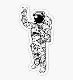 Pegatina Astronaut Peace