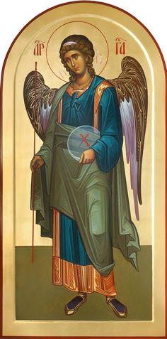 Byzantine Art, Byzantine Icons, Religious Icons, Religious Art, Paint Icon, Angel Images, Jesus Art, Angels Among Us, Saint Michel