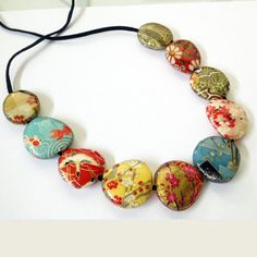 Origami+11+Bead+Necklace+Japanese+Chiyogami+Paper+by+AbakusDesign,+$49.00