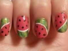 Watermelon nails!! This is awesome...trying my hand at this soon.